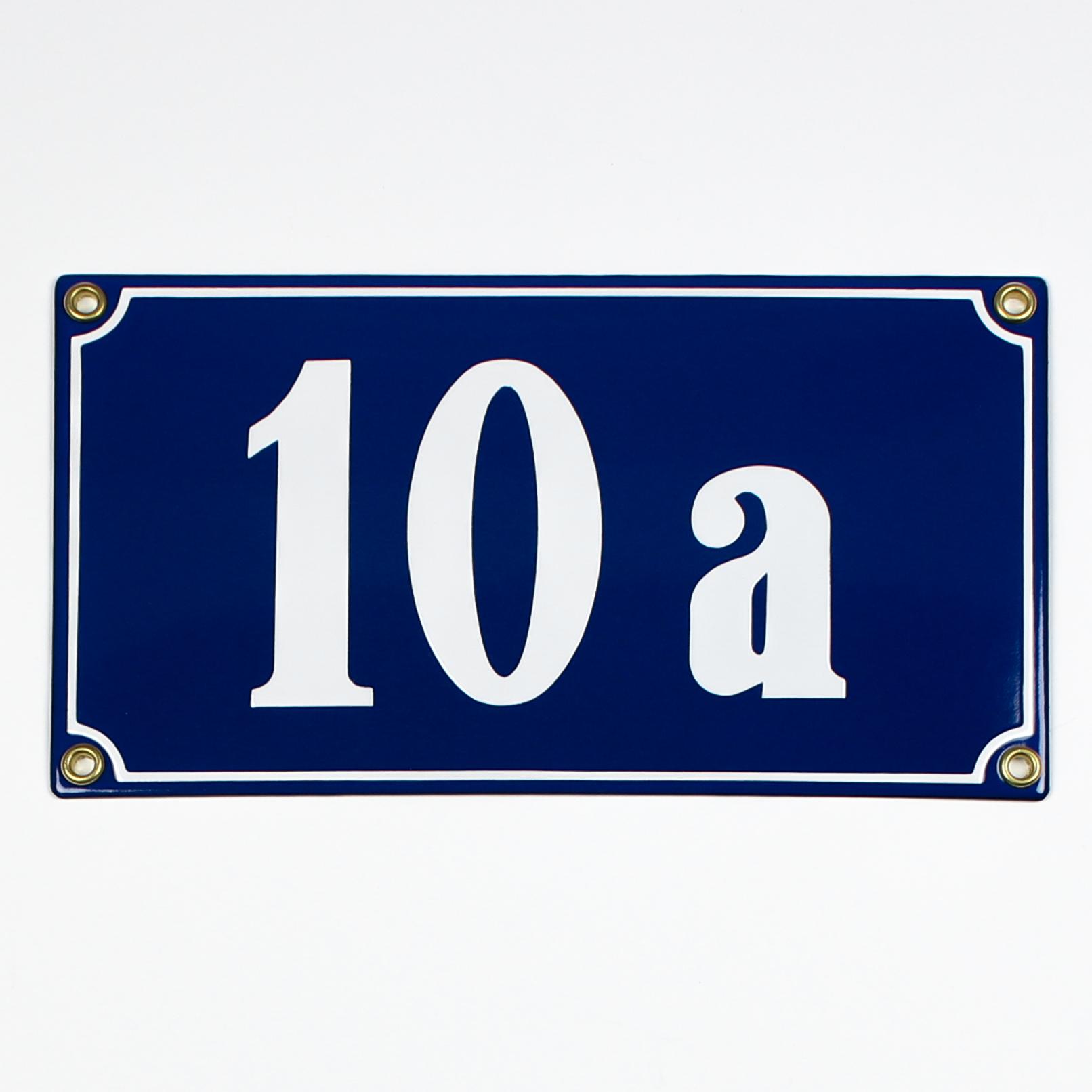 Emaille Hausnummerschild seöbst gestalten 1-stellig 12x12 cm